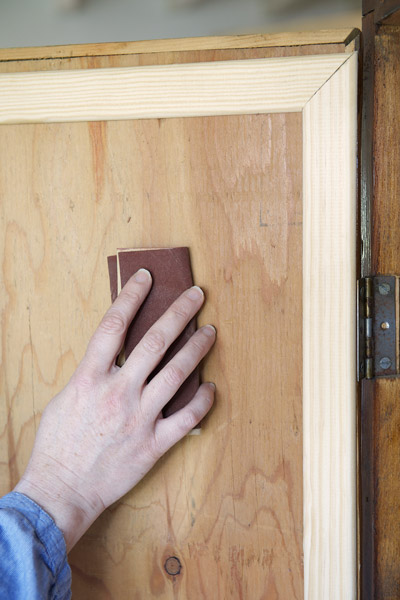 Preparation support peinture meubles caseine